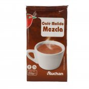 AUCHAN CAFE MOLT BARREJA 250 GRS